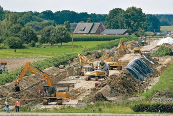 Baustelle für Netzausbau