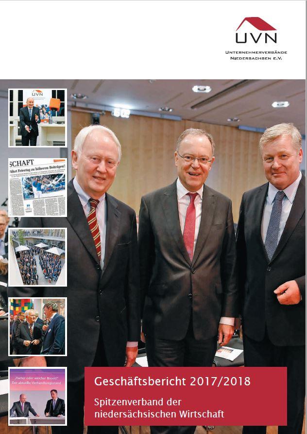 Titelbild UVN-Geschäftsbericht 2017/18