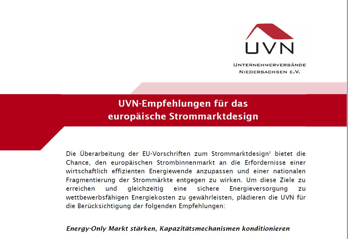UVN-Position EU-Strommarkt