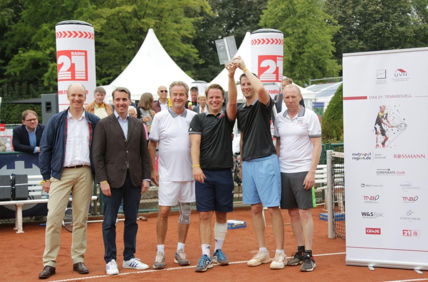 Siegerehrung Tennisduell 2019