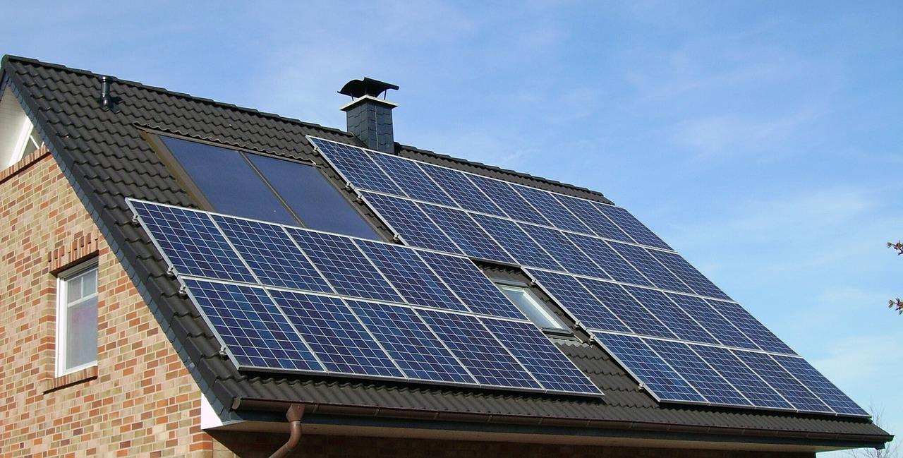 Solaranlage Dach Wohnhaus