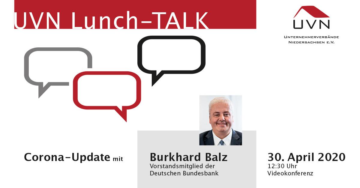 UVN-Lunch-Talk mit Burkhard Balz, Vorstandsmitglied der Deutschen Bundesbank