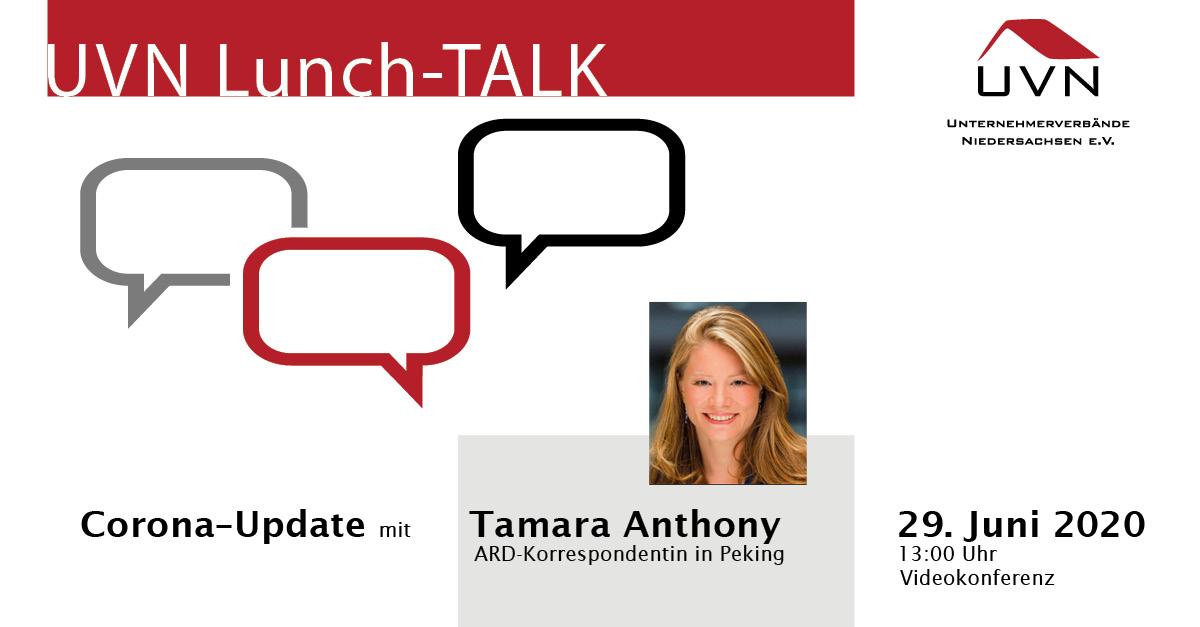 UVN-Lunch-Talk mit Tamara Anthony, ARD-Korrespondentin im ARD-Studio Peking