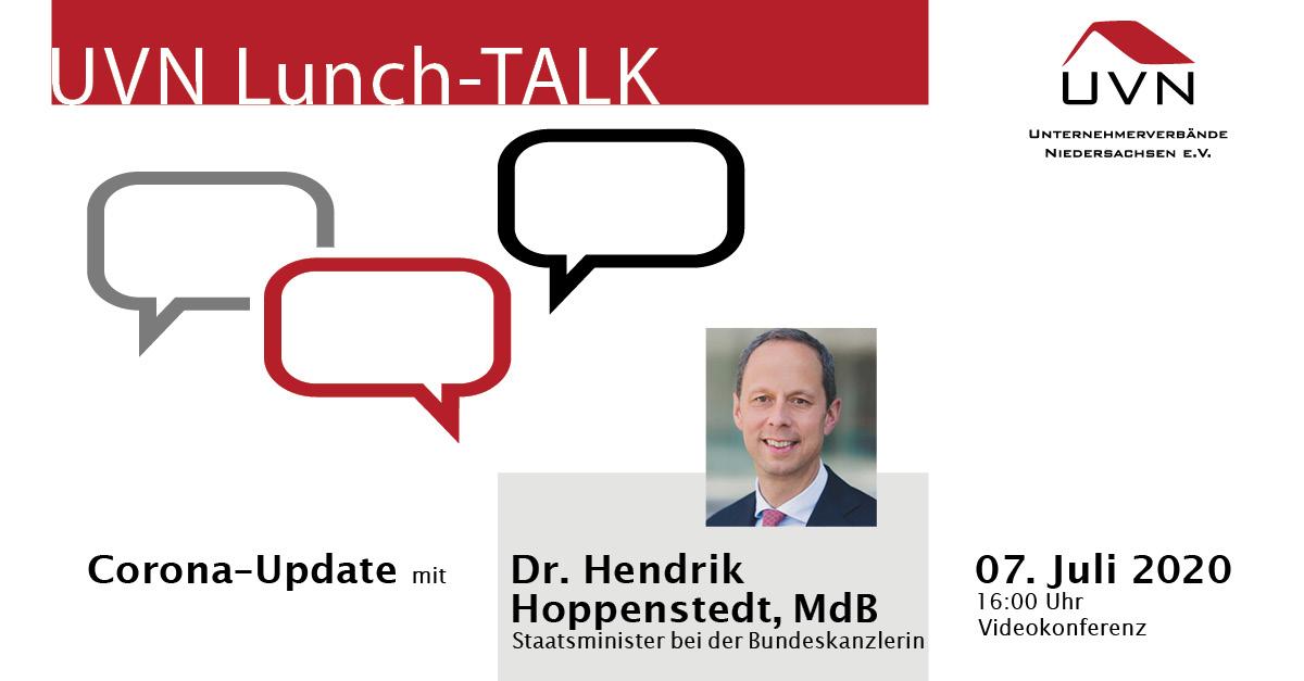 UVN Lunch-Talk mit Dr. Hendrik Hoppenstedt, MdB, Staatsminister bei der Bundeskanzlerin