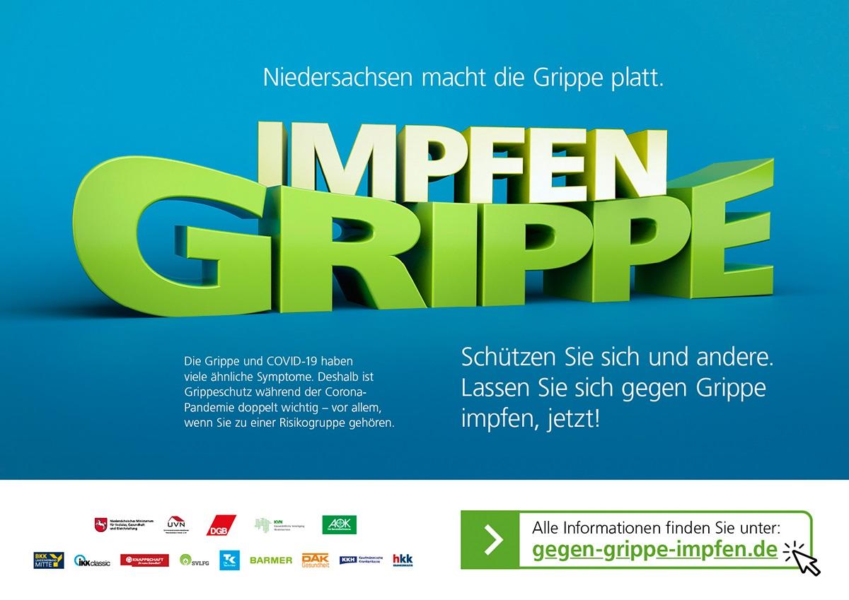 Kampagne Niedersachsen macht die Grippe platt