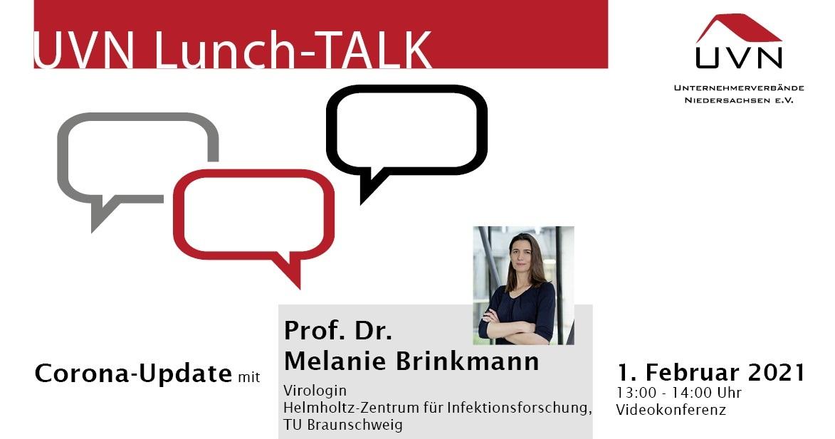UVN-Lunch-Talk mit Prof. Dr. Melanie Brinkmann, Virologin am Helmholtz-Zentrum für Infektionsforschung, TU Braunschweig